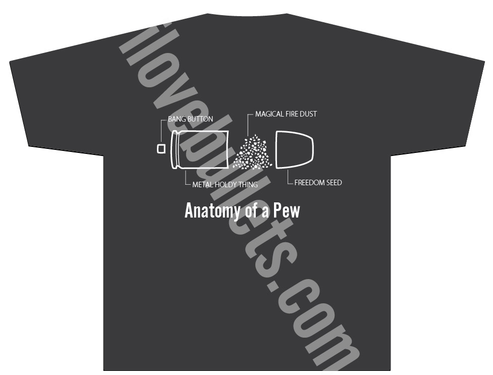 The Original Anatomy Of A Pew T Shirt Ilovebullets